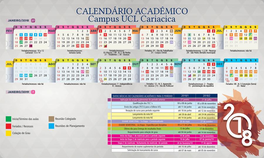 Calendário UCL 2018 Cariacica